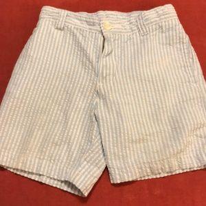 Little Boys Seersucker Shorts